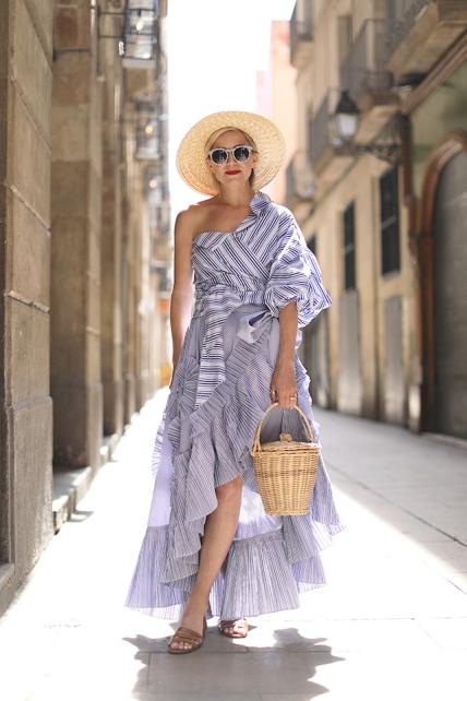 fashion-street-style-barcelona-skirt-stripes